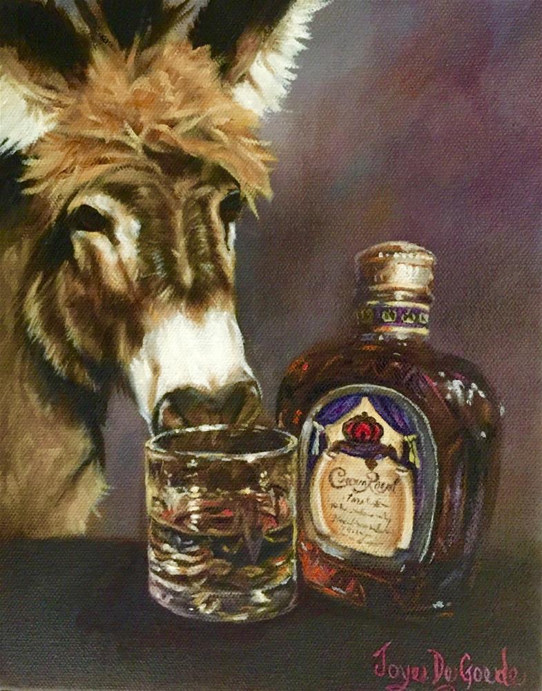 """""""Crown Royal Ass (c) by Joye DeGoede"""" original fine art by Joye DeGoede"""