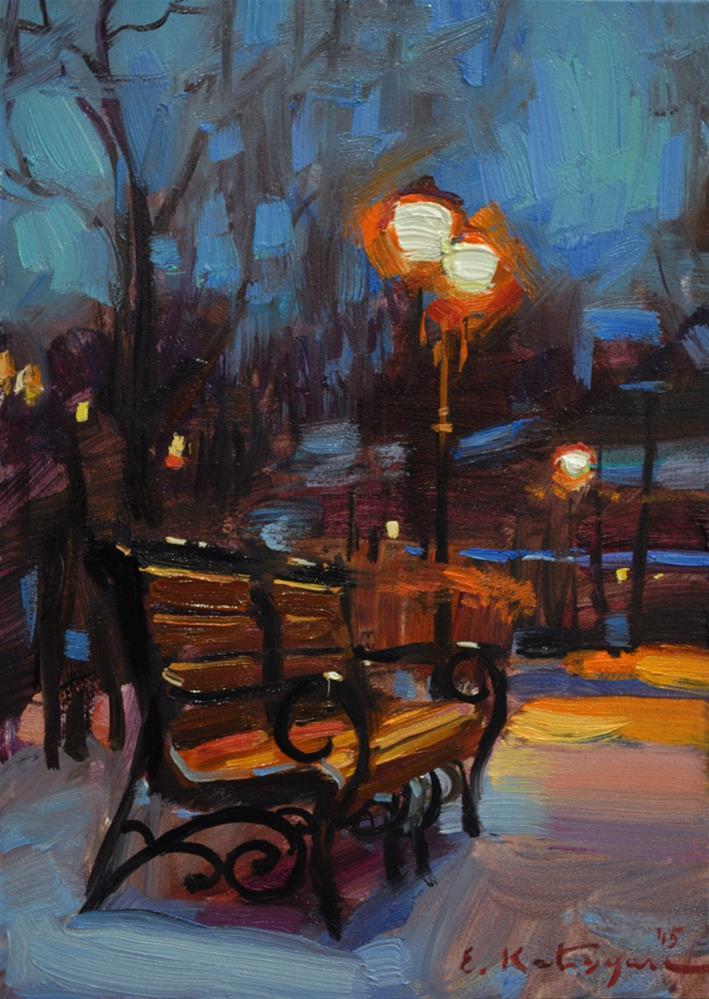 """Streetlight"" original fine art by Elena Katsyura"