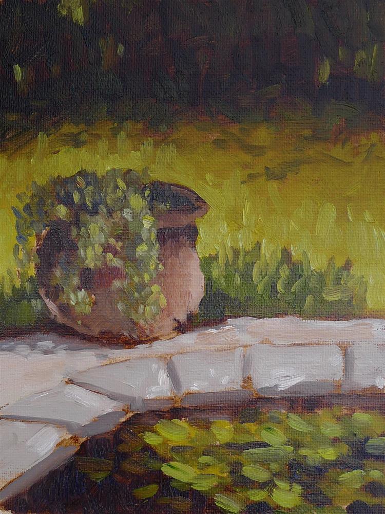 """Potted Ivy II"" original fine art by Adam Houston"