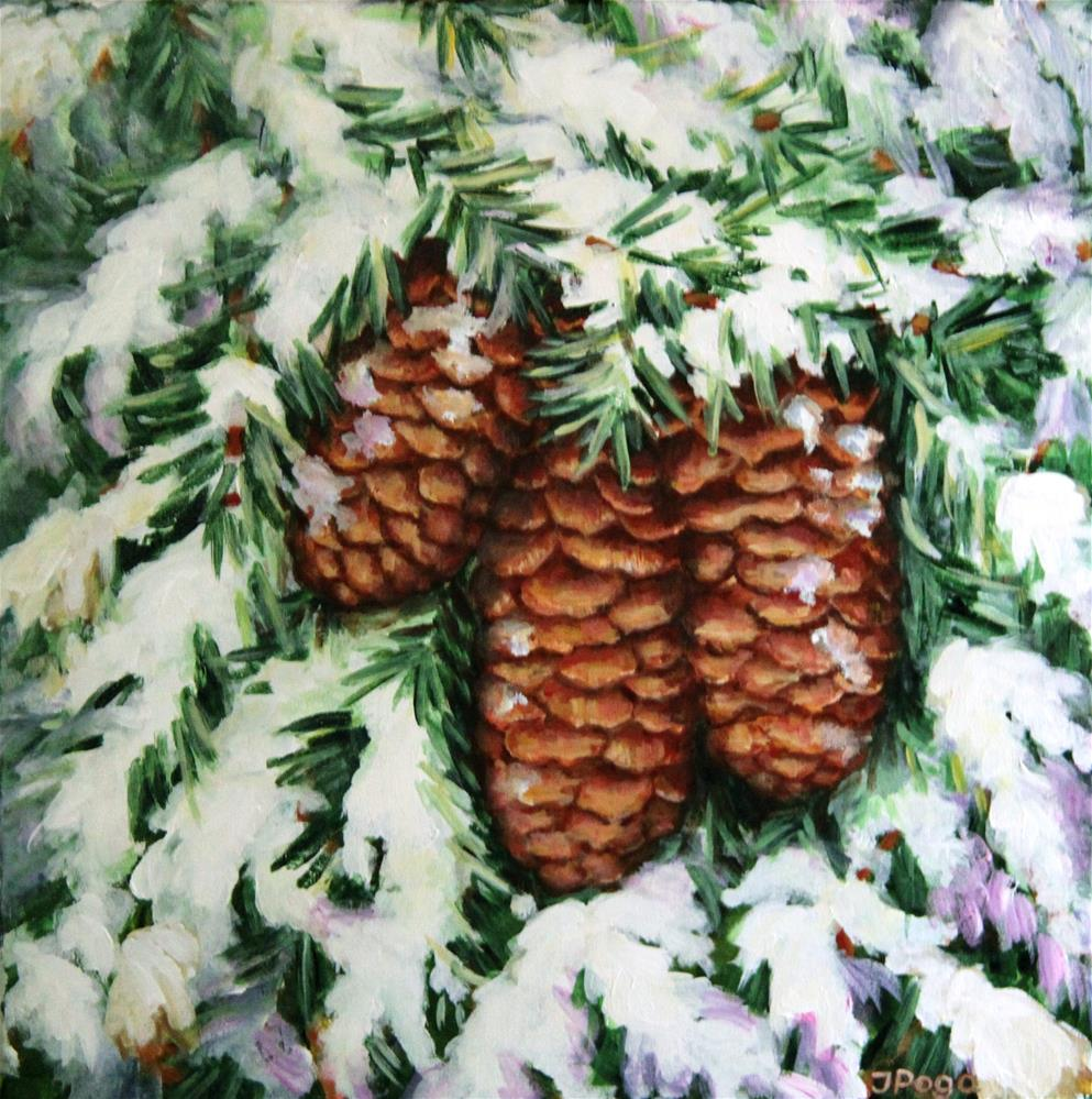 """Fir cones"" original fine art by Inese Poga"
