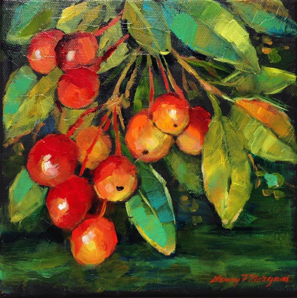 """Bunch of Berrries"" original fine art by Nancy F. Morgan"
