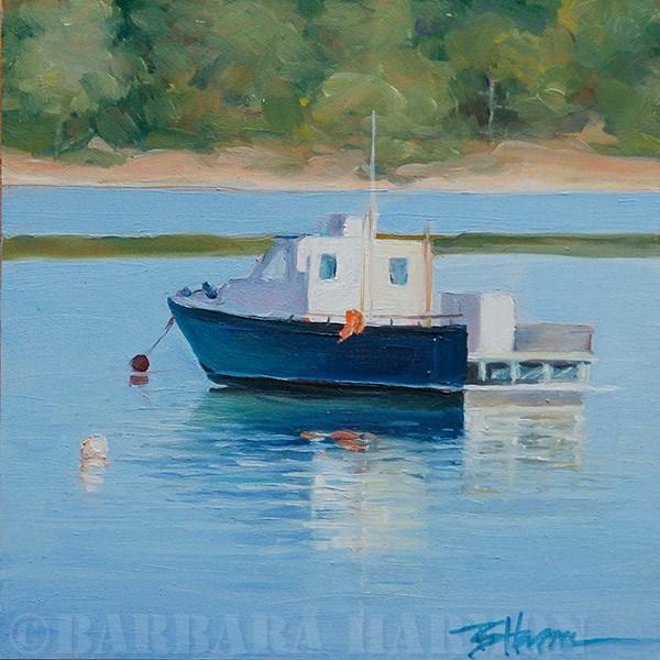 """""""Cove Boat #1"""" original fine art by Barbara Harmon"""