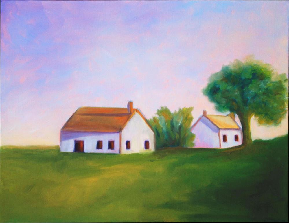"""""""Farmhouse"""" original fine art by Susan Bertocci"""