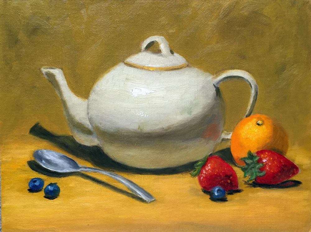 """Whidbey Teapot"" original fine art by Dicksie McDaniel"