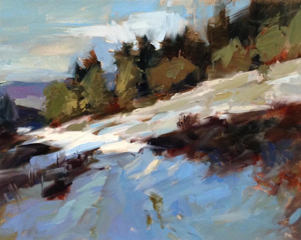 """The Light Travels Around The Bend"" original fine art by Patti McNutt"