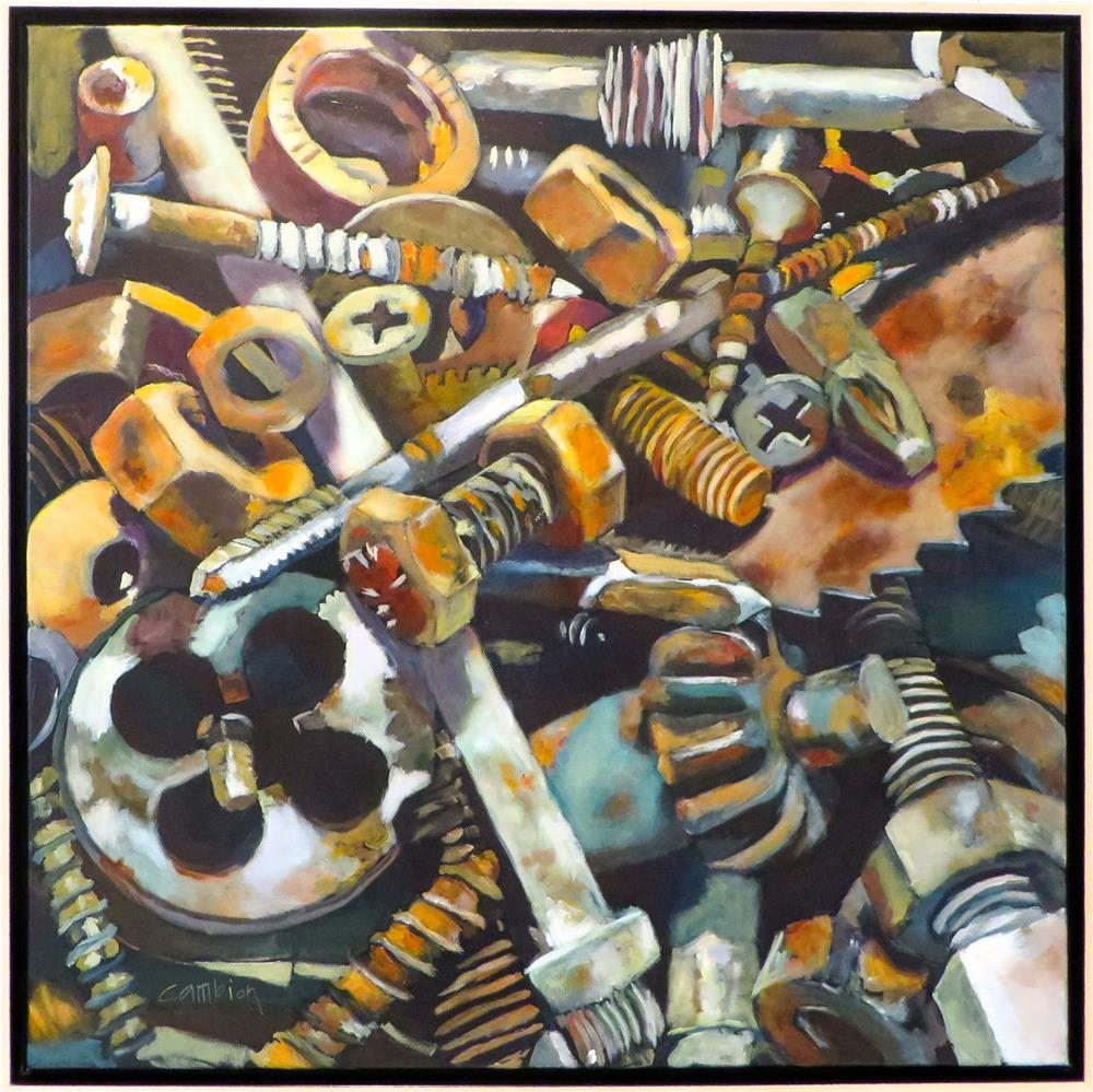 """""""Nuts and Bolts"""" original fine art by Diane Campion"""
