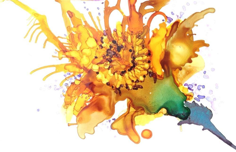 """""""Parrot Flower"""" original fine art by Kelly Alge"""