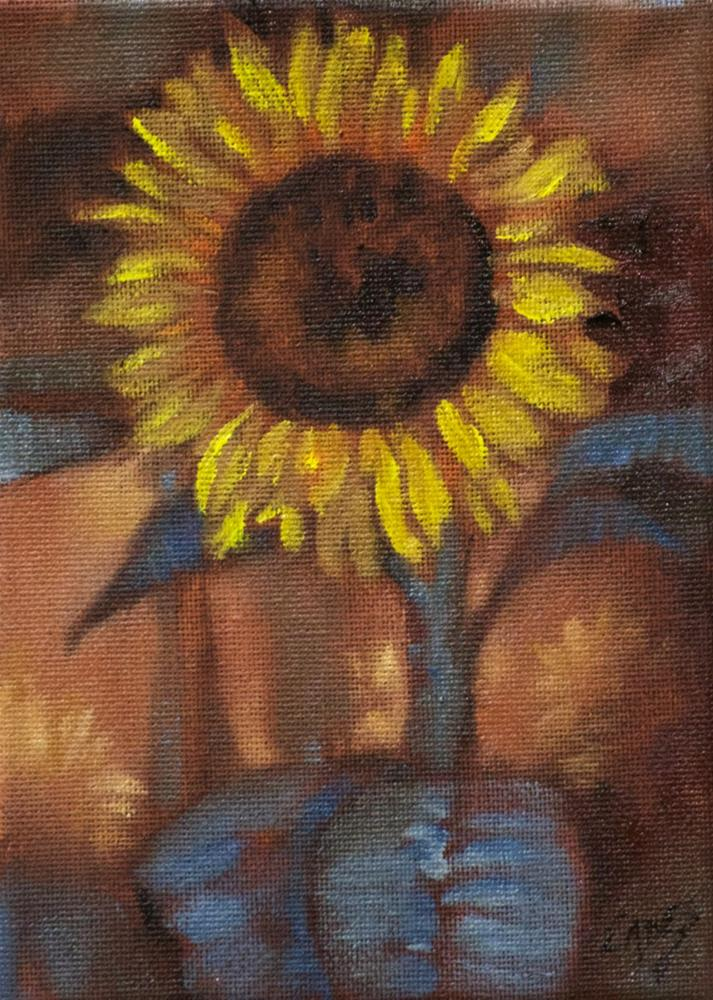 """Crazy Daisy"" original fine art by Linda Eades Blackburn"