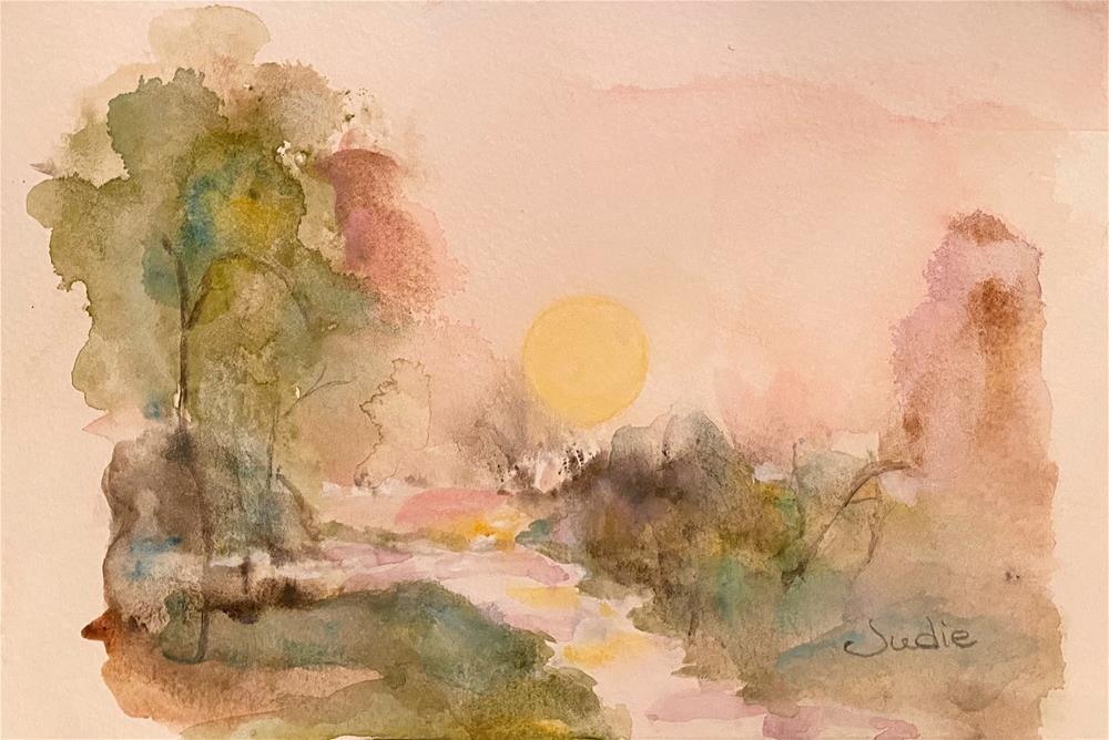 """""""QUIET REFLECTION"""" original fine art by Judie Mulkey"""