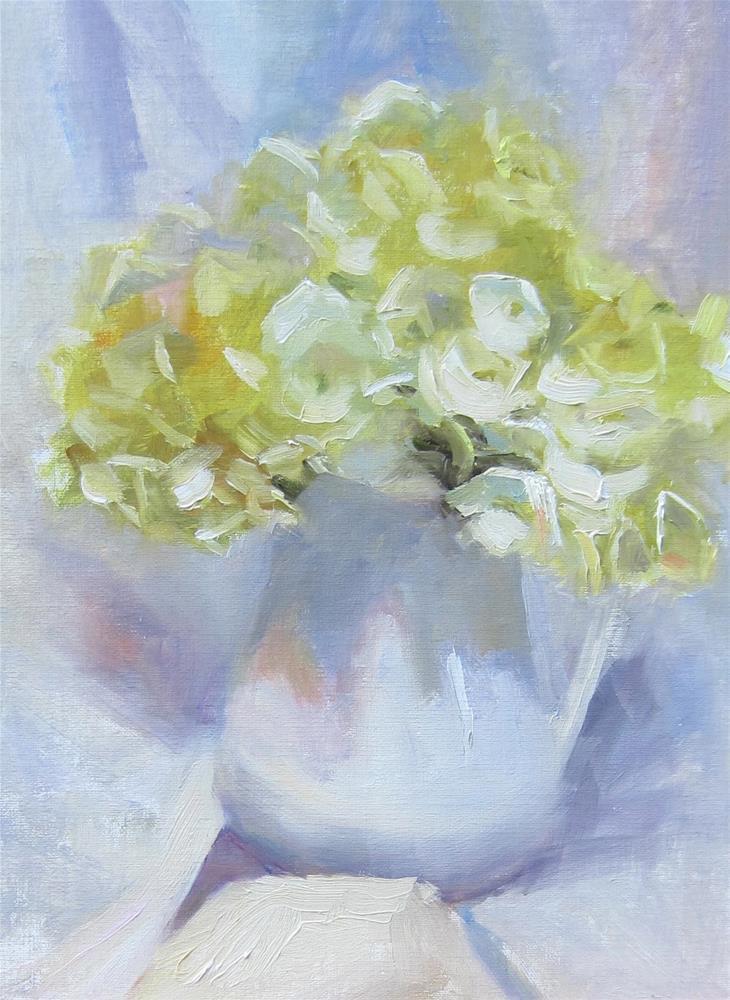 """""""White on White"""" original fine art by Pat Fiorello"""
