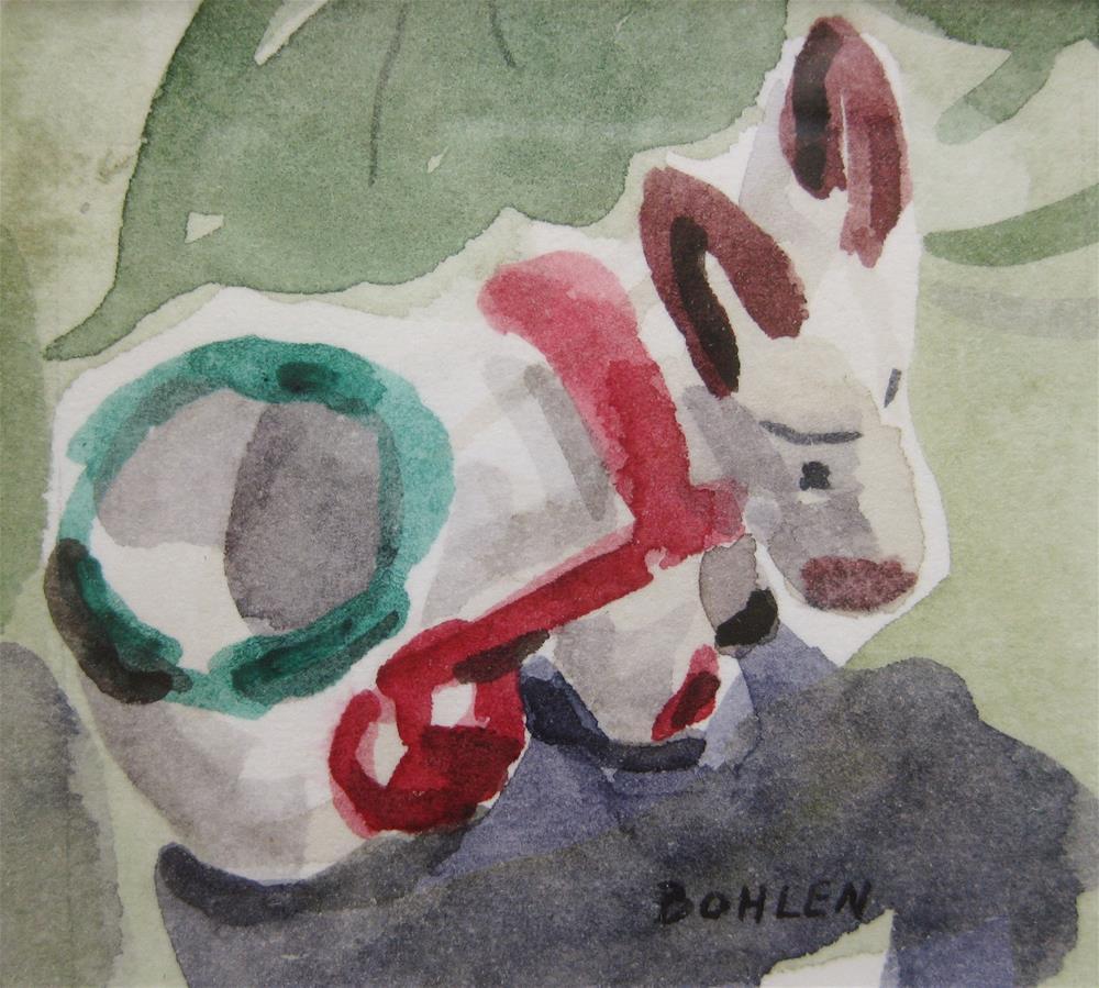 """Donkey"" original fine art by Priscilla Bohlen"
