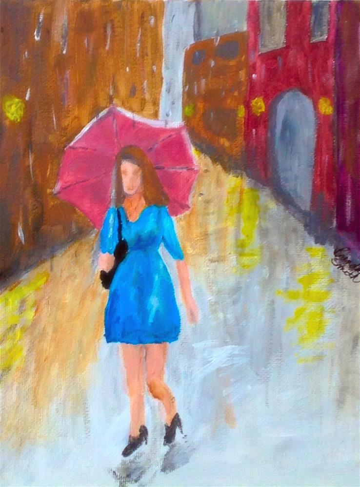 """A Wet Walk"" original fine art by Brenda Smith"
