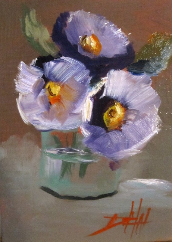 """""""Still Life with Flowers"""" original fine art by Delilah Smith"""