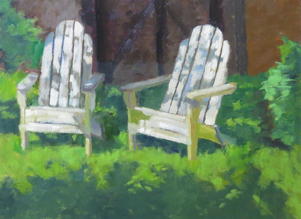 """Restful Garden"" original fine art by Pam Holnback"