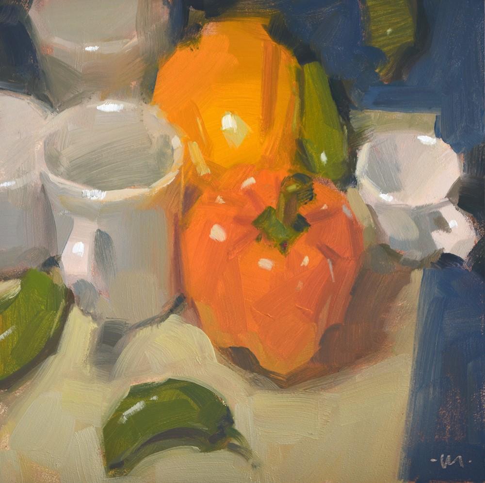 """Peppers Planning"" original fine art by Carol Marine"