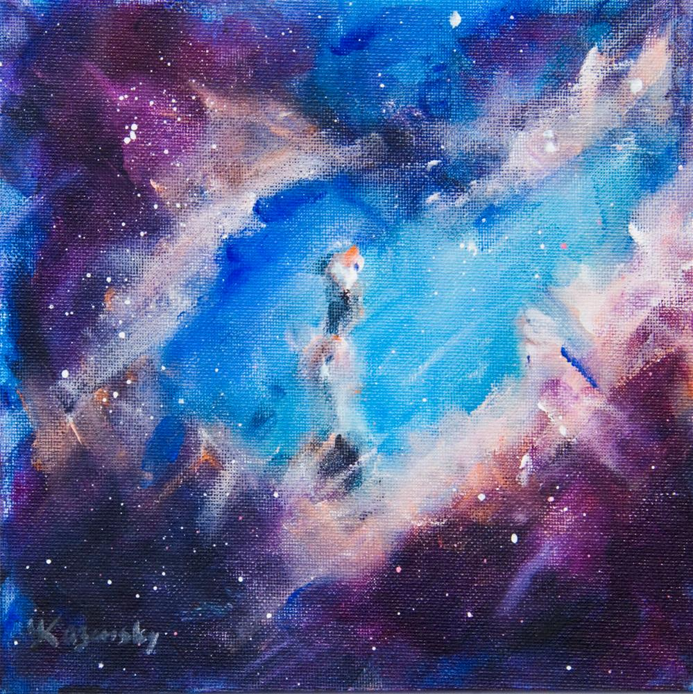 """Deep Space, study."" original fine art by Yulia Kazansky"