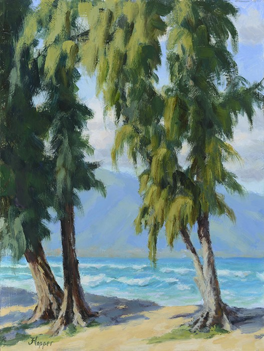 """Kanaha Beach Park"" original fine art by Joanne Hopper"