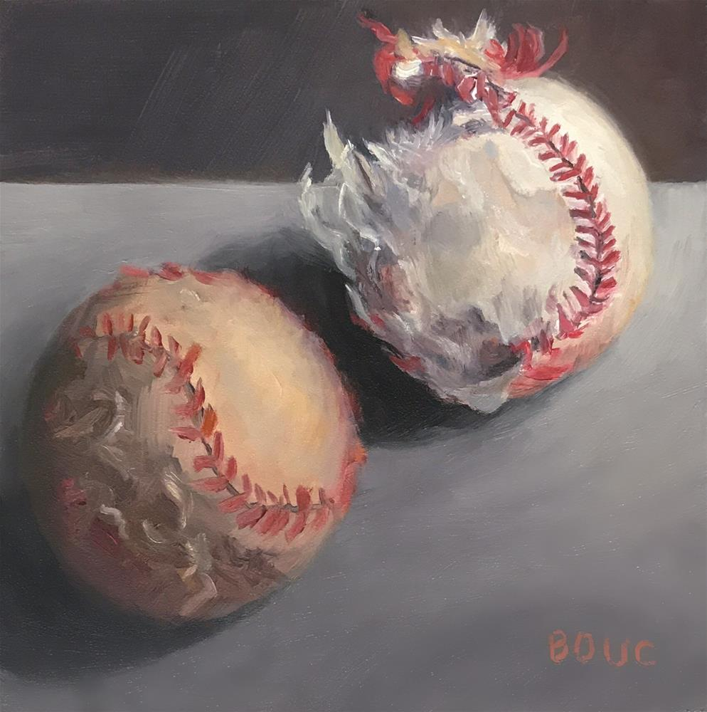 """Playing Dirty Ball!"" original fine art by Jana Bouc"