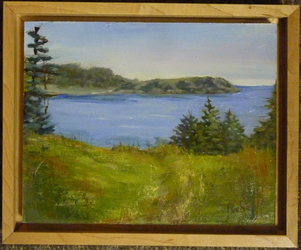 """""""Canadian Overlook 8x10"""" original fine art by Mary Pyche"""