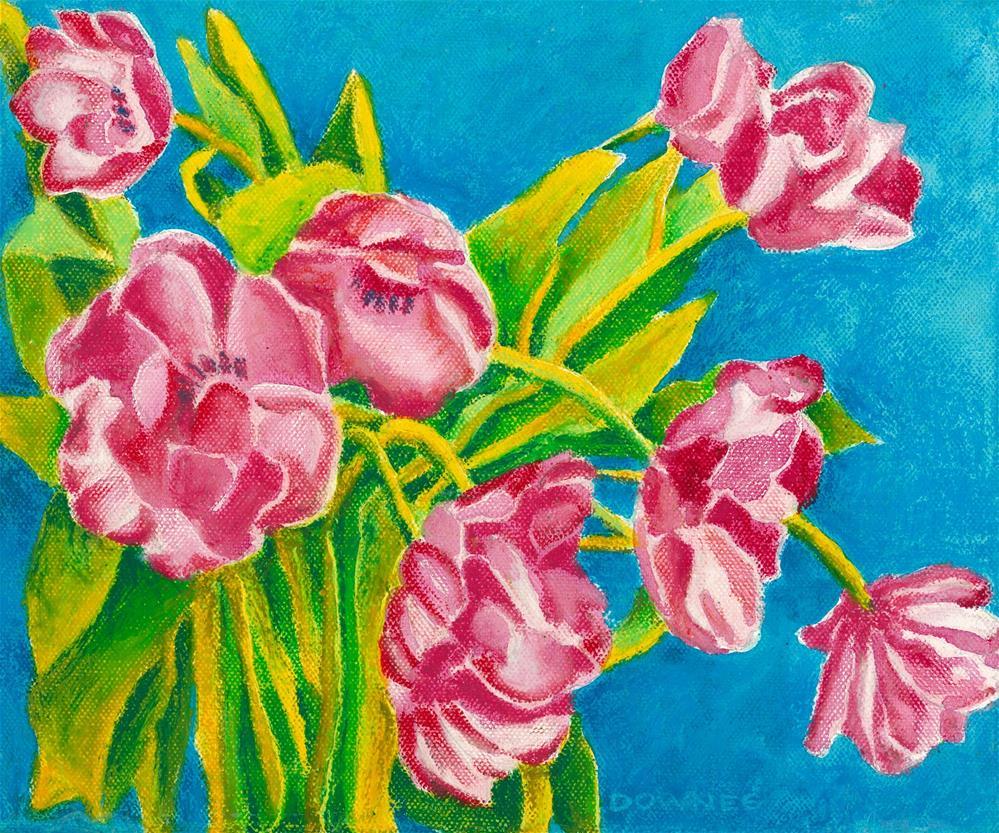 """125 FLOWERS STYLISED 1"" original fine art by Trevor Downes"
