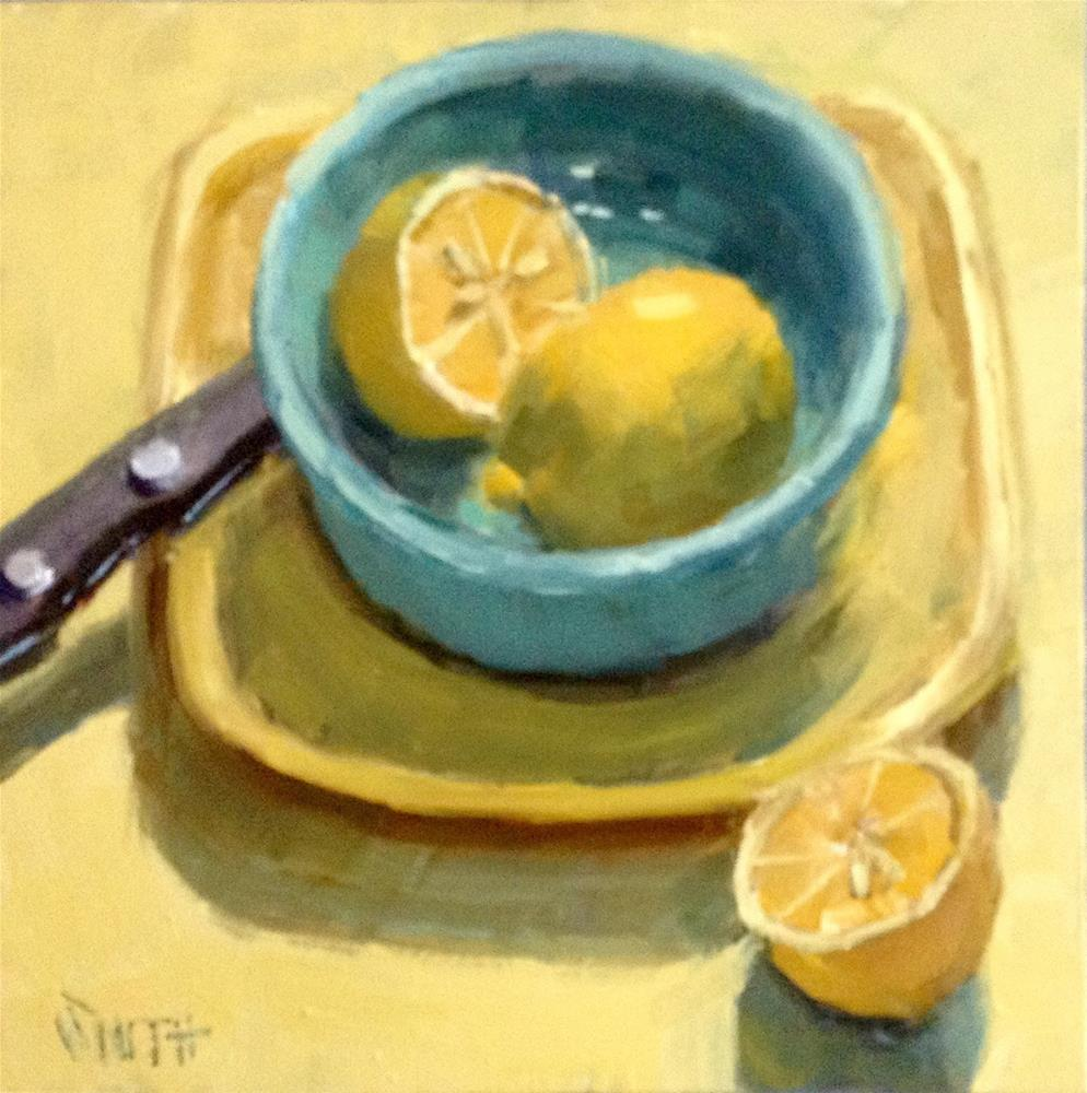 """Lemon Yellow"" original fine art by Barbie Smith"