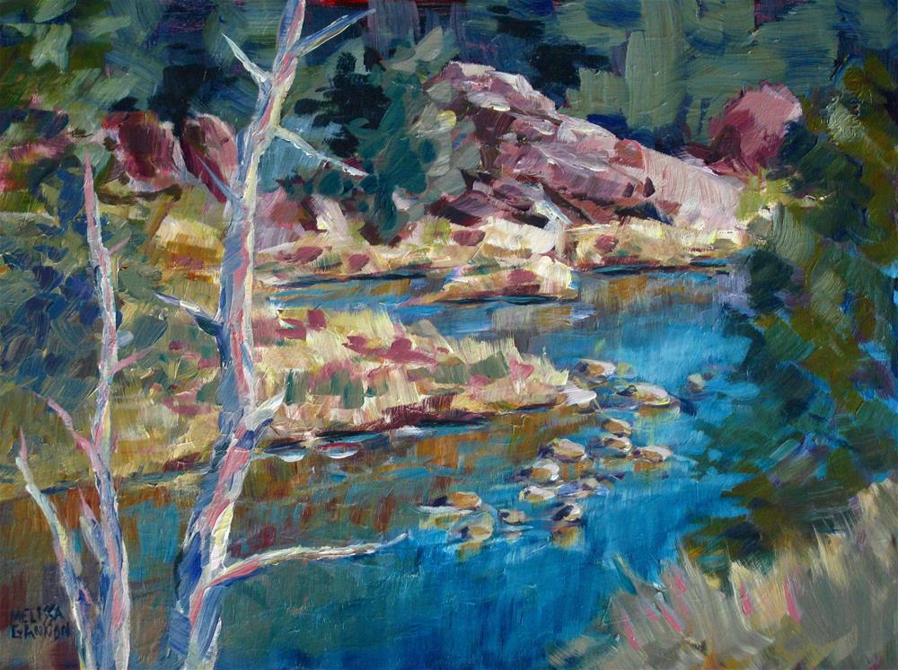 """""""Above the Crooked River"""" original fine art by Melissa Gannon"""