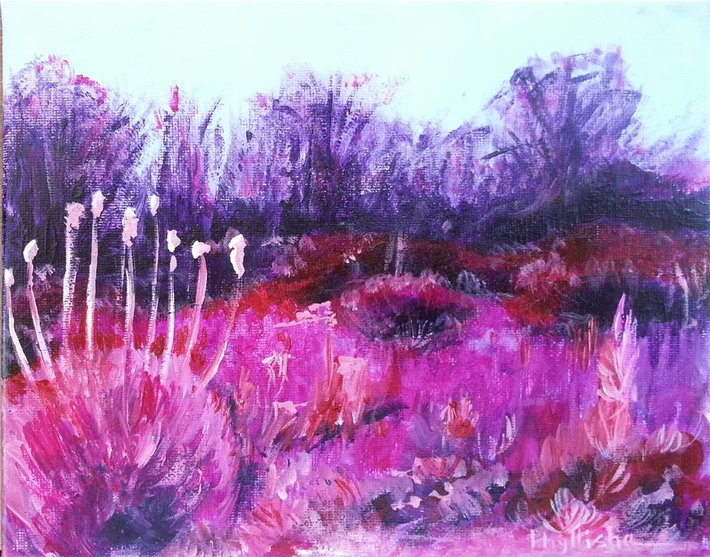 """""""Southwest Scene I"""" original fine art by Phyllisha Hamrick"""