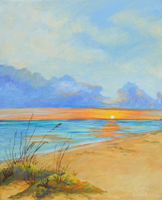 """""""Boca Grand Sunset"""" original fine art by Gloria Urban"""