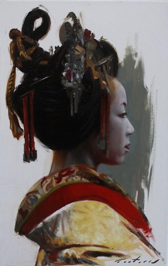 """""""Tayuu"""" original fine art by Phil Couture"""