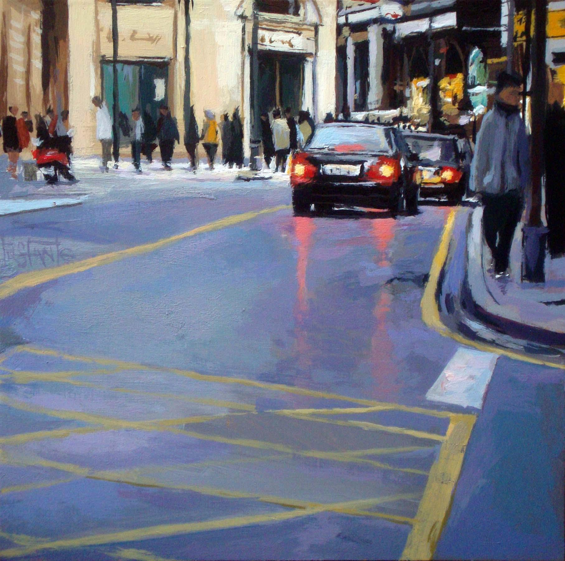 """Traffic"" original fine art by Víctor Tristante"