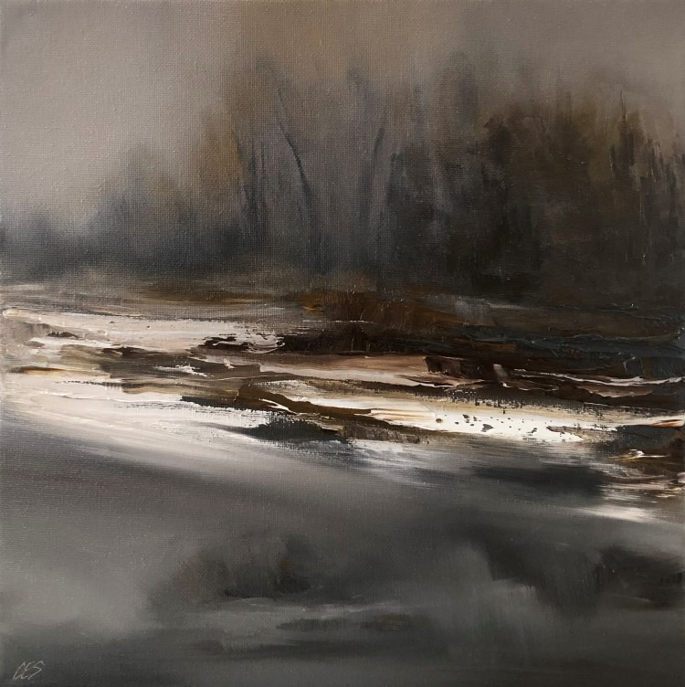 """Dark Winter Days"" original fine art by Christine E. S. Code"
