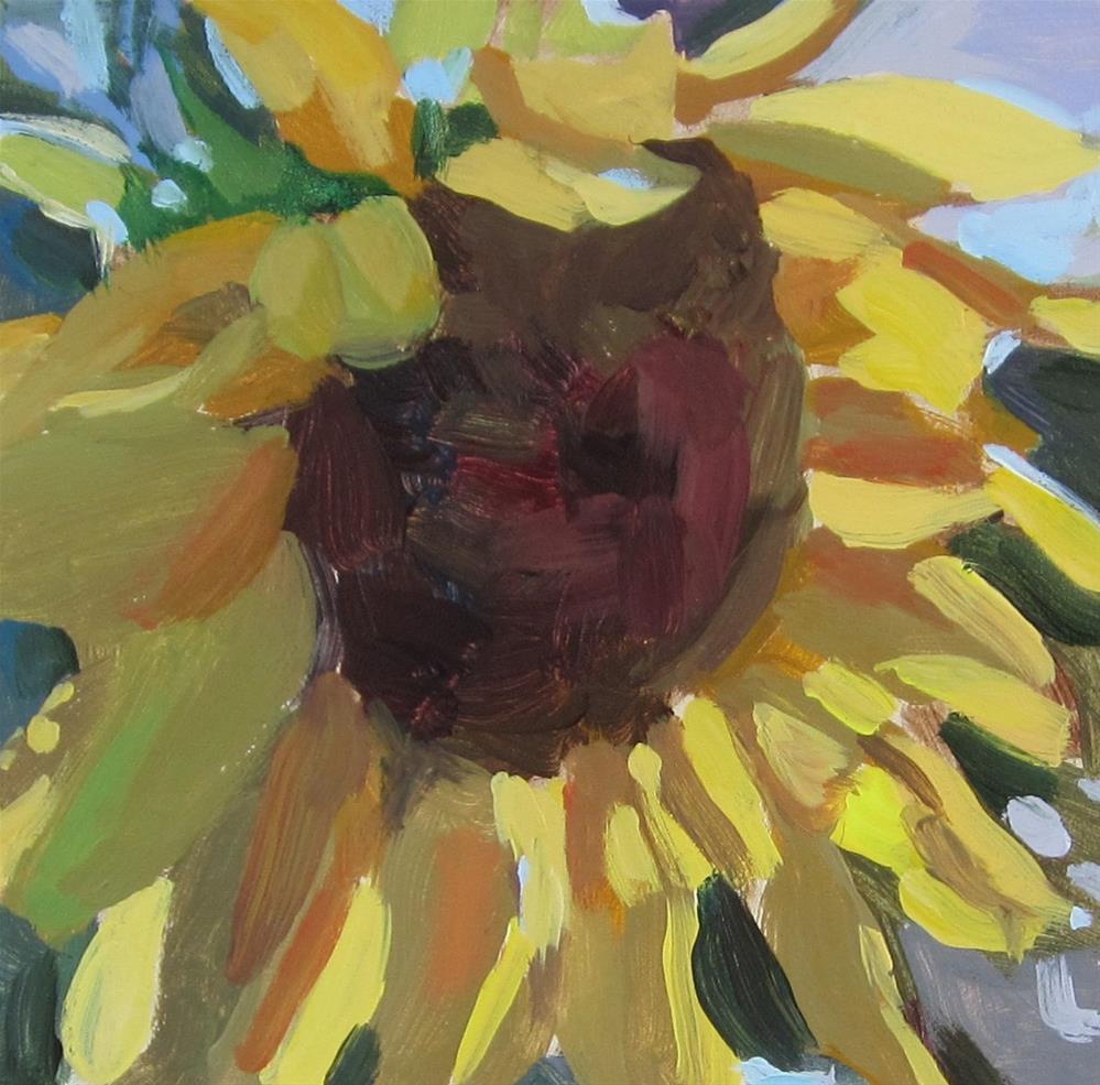 """""""Sunflower #2"""" original fine art by Kaethe Bealer"""