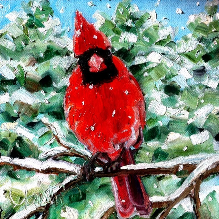 """""""OUT ON A LIMB"""" original fine art by Kristy Tracy"""