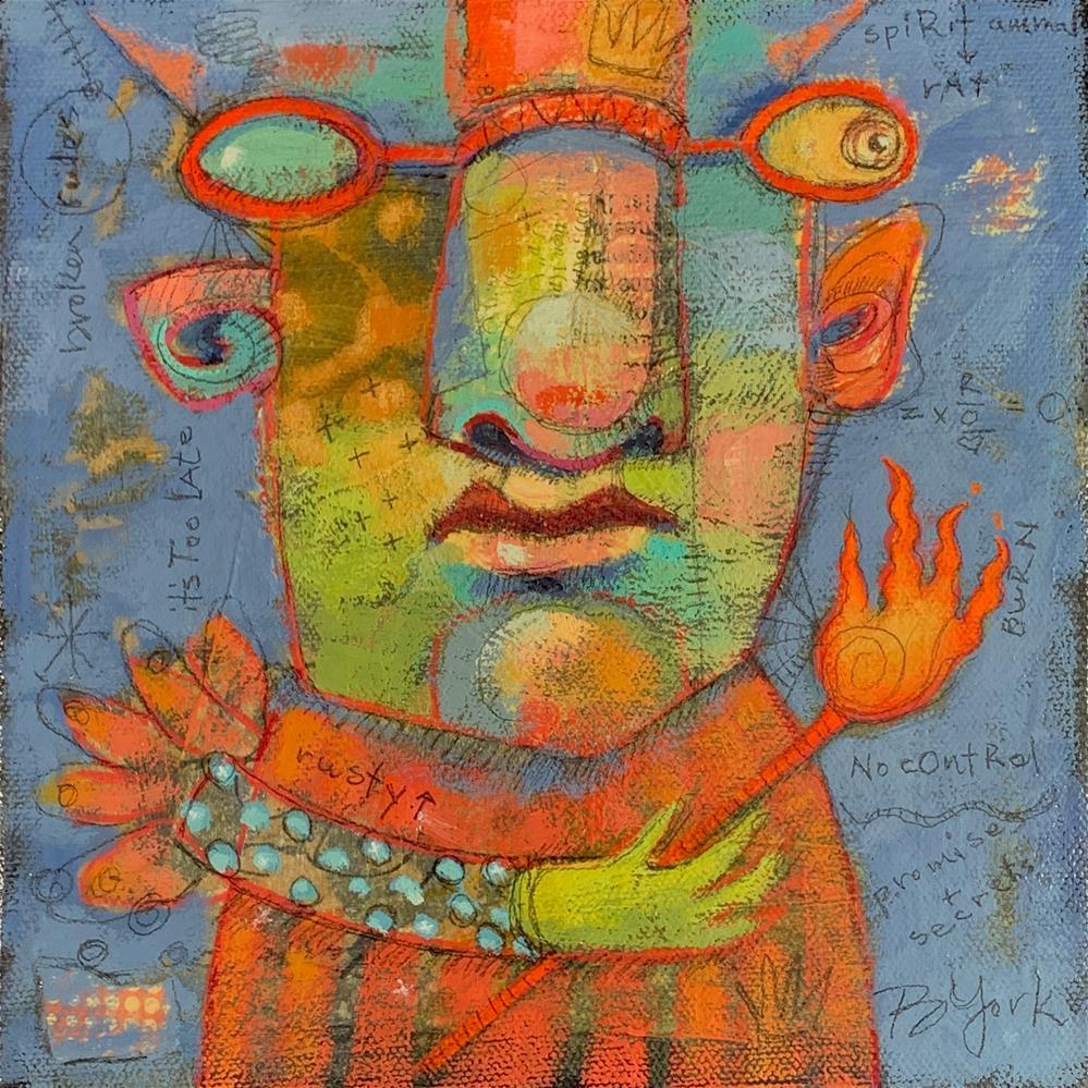 """Ralph, Archangel Of Promises You Didn't Keep"" original fine art by Brenda York"