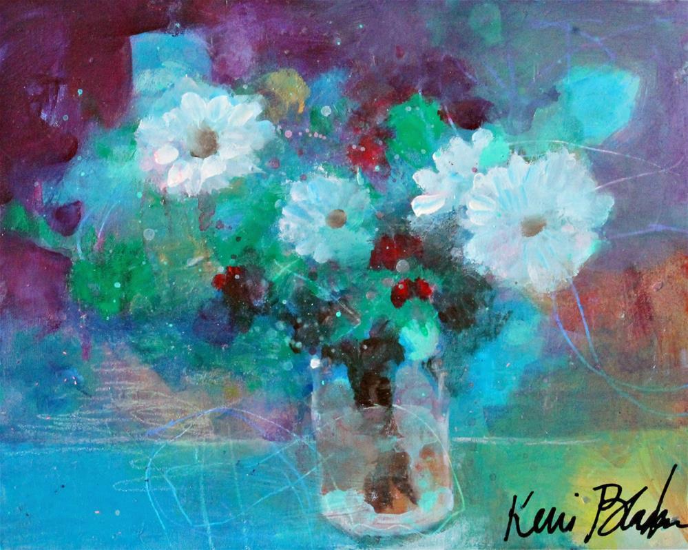"""Just Some Cheerful Flowers"" original fine art by Kerri Blackman"