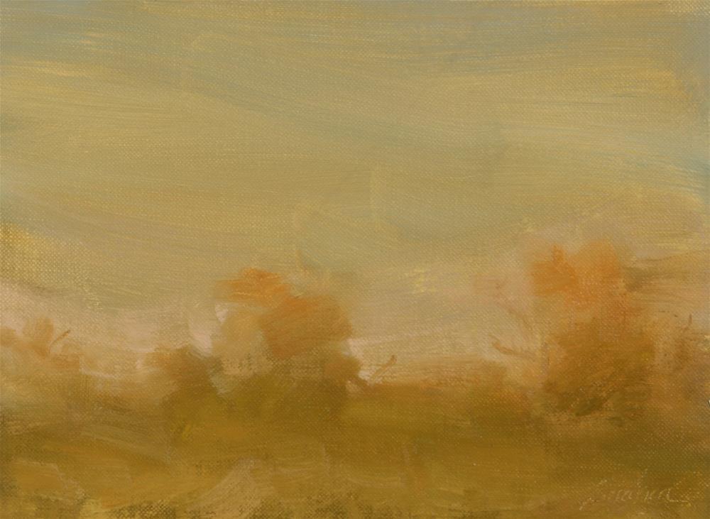 """""""Fall Sunset 19"""" original fine art by Scott Serafica"""