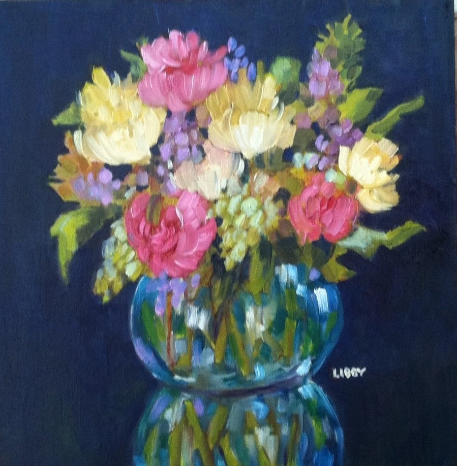 """""""Bouquet for Rosie"""" original fine art by Libby Anderson"""