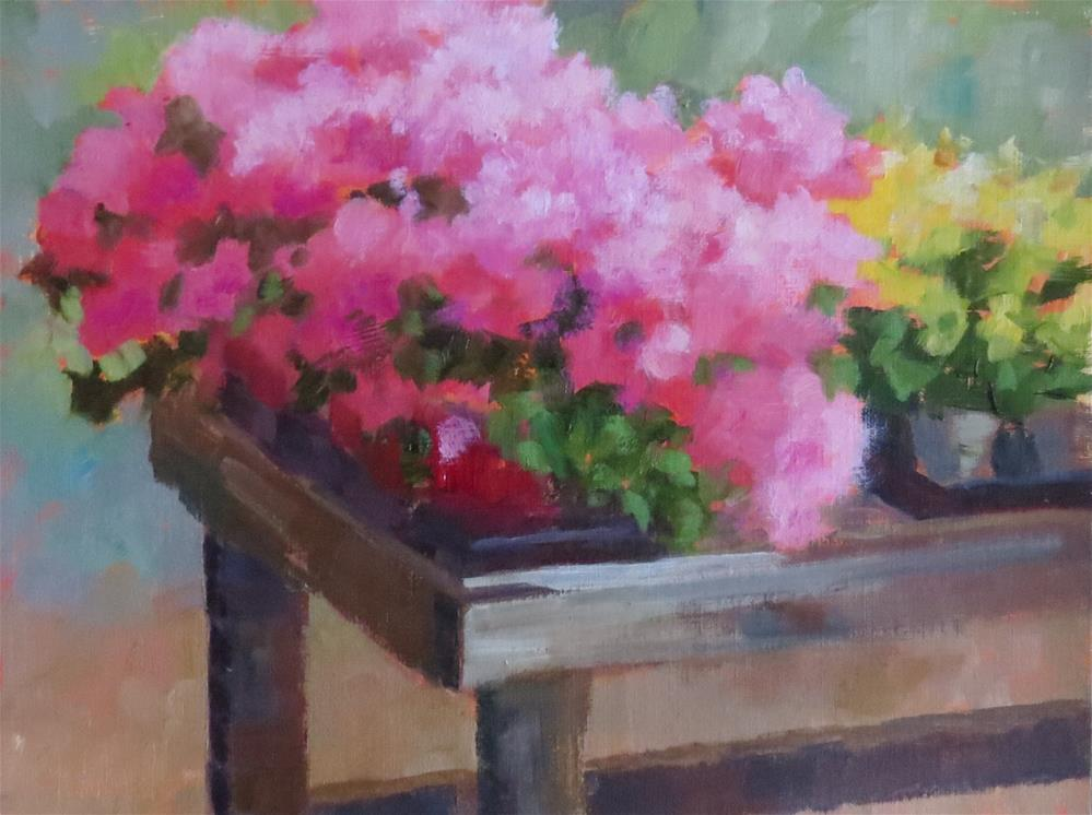 """""""In The Greenhouse"""" original fine art by Pam Holnback"""