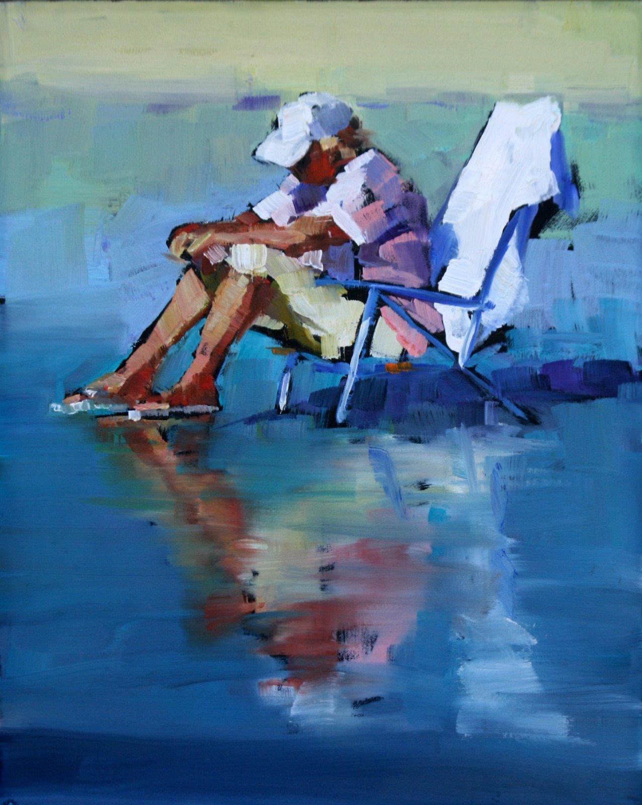 """first day practice."" original fine art by Carol Carmichael"