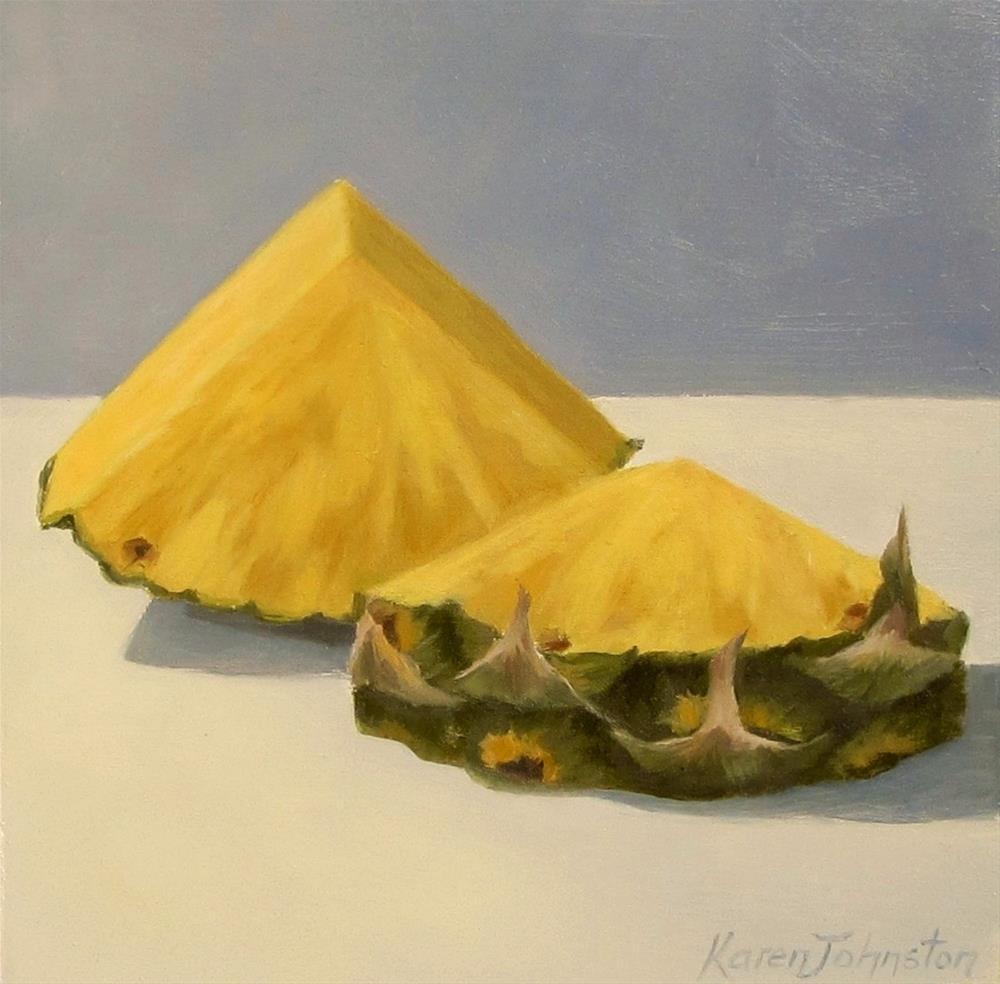 """""""Pineaple Slices"""" original fine art by Karen Johnston"""
