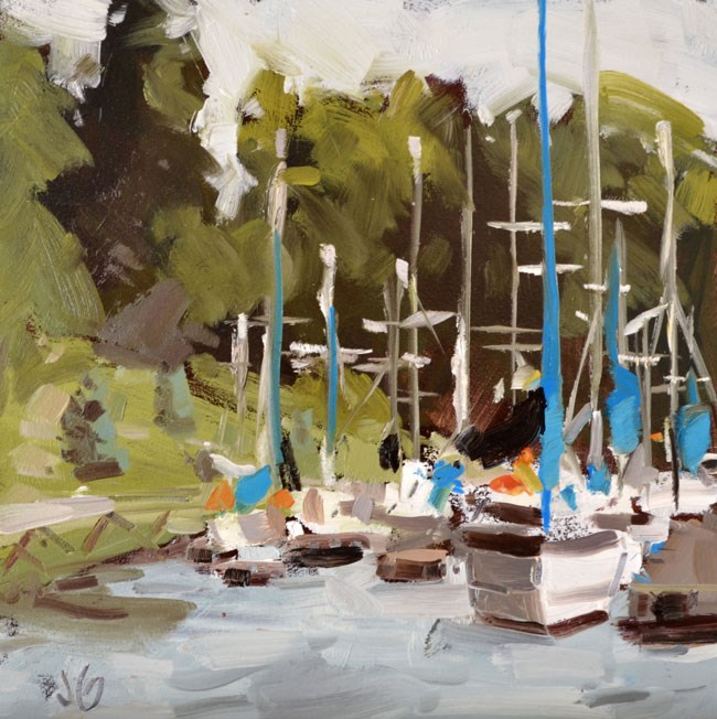 """Small Marina"" original fine art by Jessica Green"