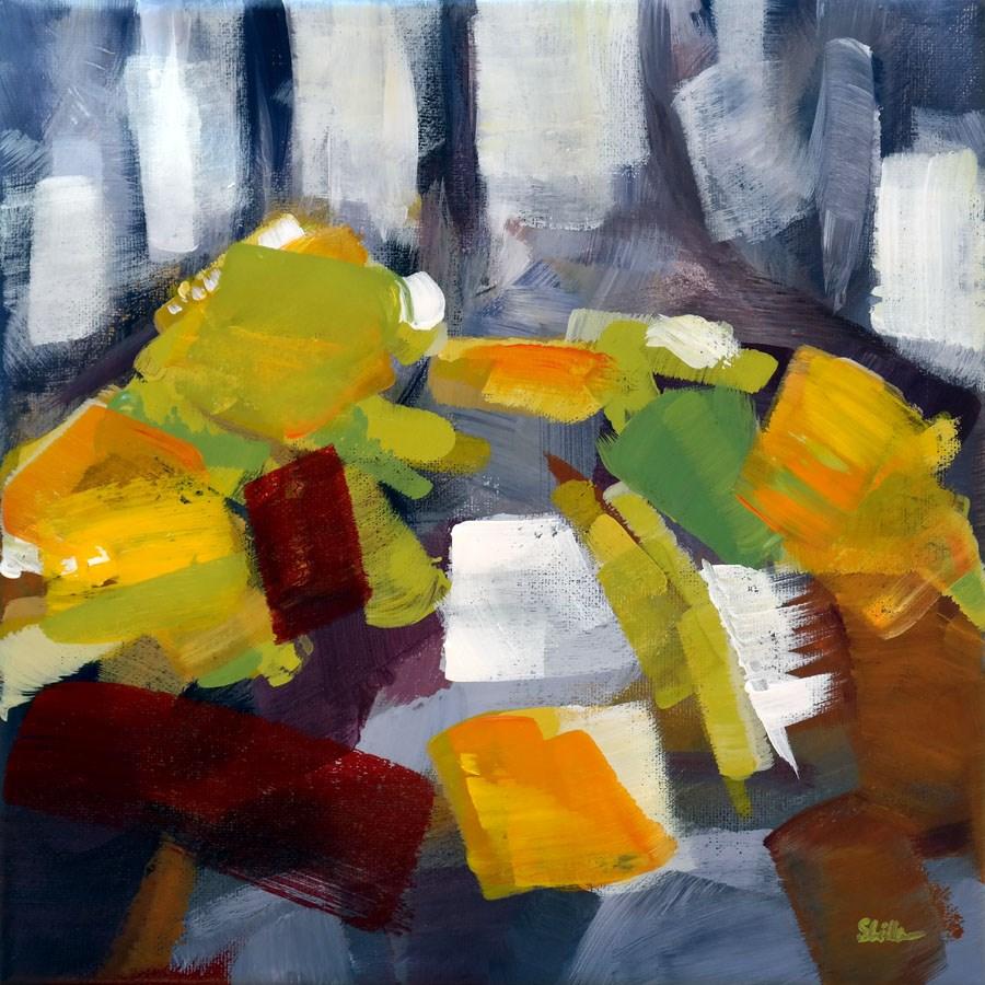 """1084 Abstract Routes"" original fine art by Dietmar Stiller"