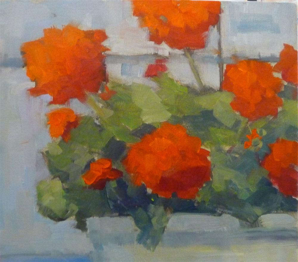 """Window Box"" original fine art by Carol Josefiak"