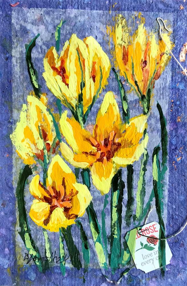"""Yellow Crocus"" original fine art by Linda Blondheim"