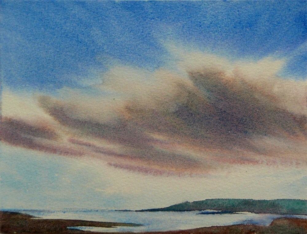 """""""Across the Bay"""" original fine art by Arena Shawn"""