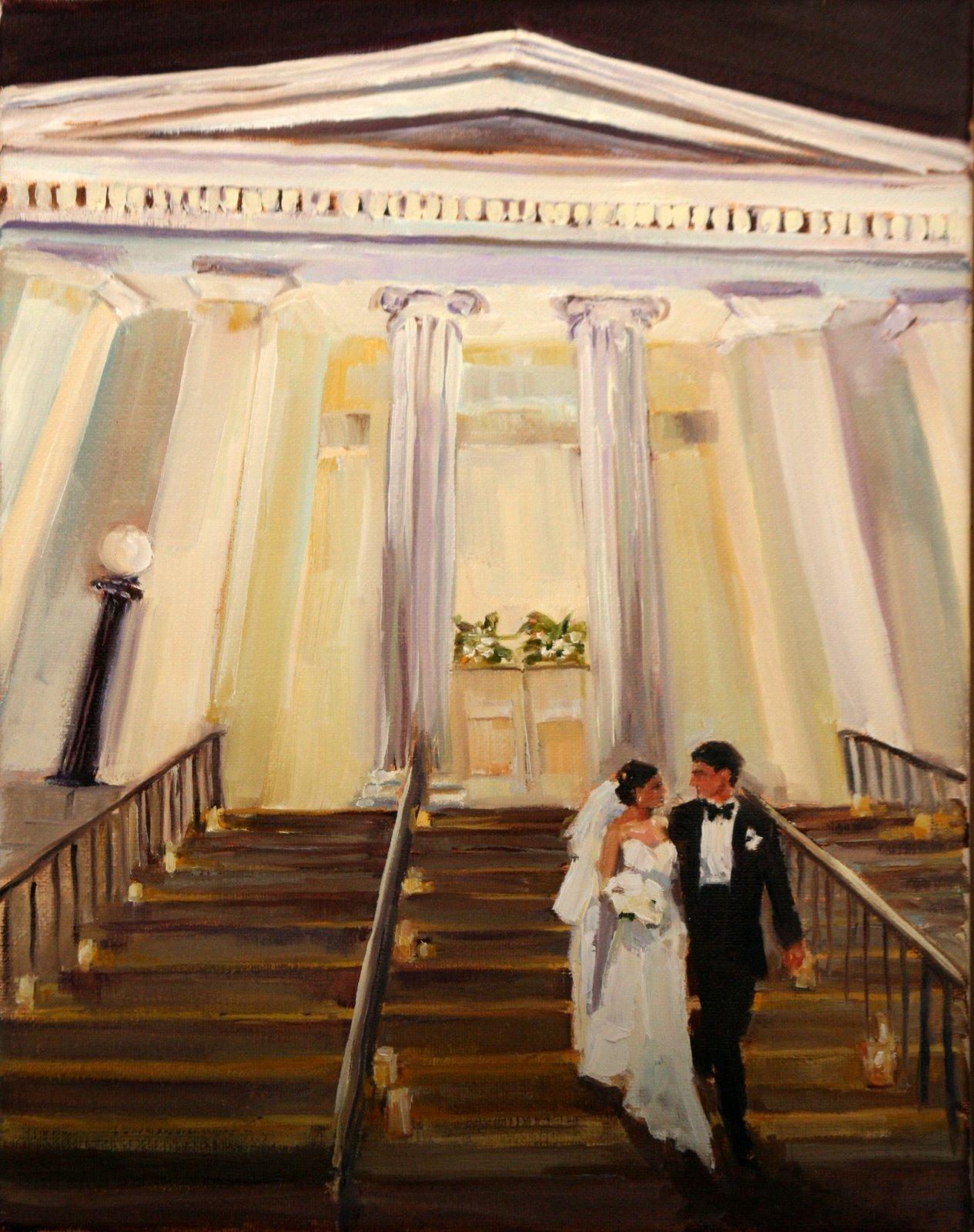 """first anniversary"" original fine art by Carol Carmichael"