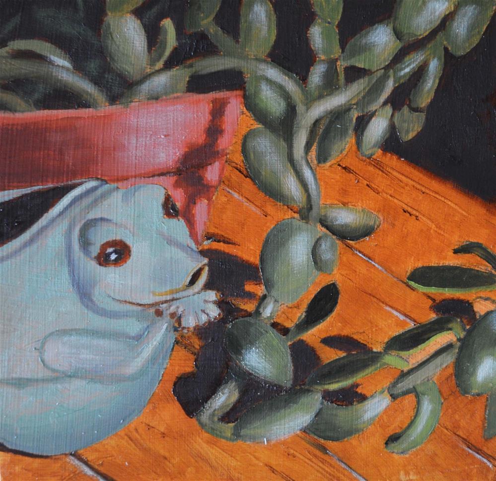 """Frog Pitcher"" original fine art by Robert Frankis"