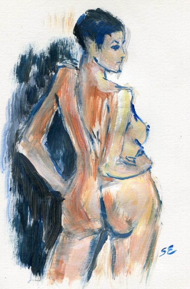 """Poze"" original fine art by Stanley Epperson"