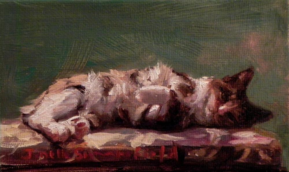 """Lounging Cat"" original fine art by Jonelle Summerfield"