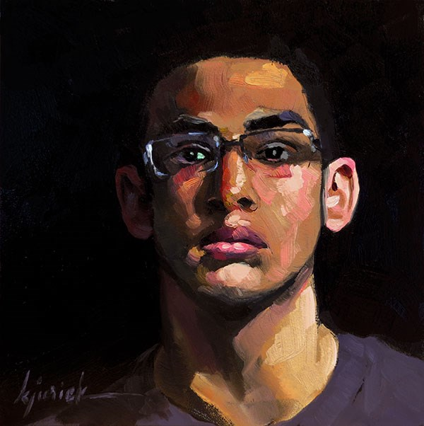 """200 Faces, No. 146"" original fine art by Karin Jurick"